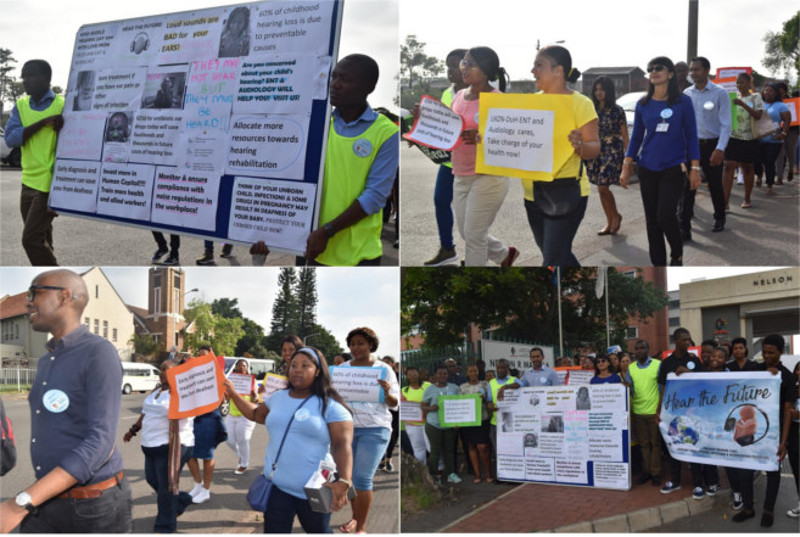 UKZN Health students and health professionals march to raise hearing loss awareness.