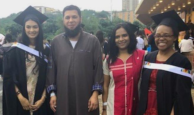 Academic Graduates Nine Masters Students