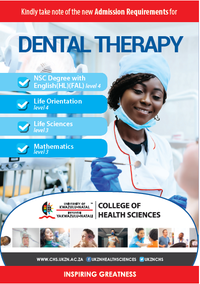 Change in admission requirements for Dental Therapy